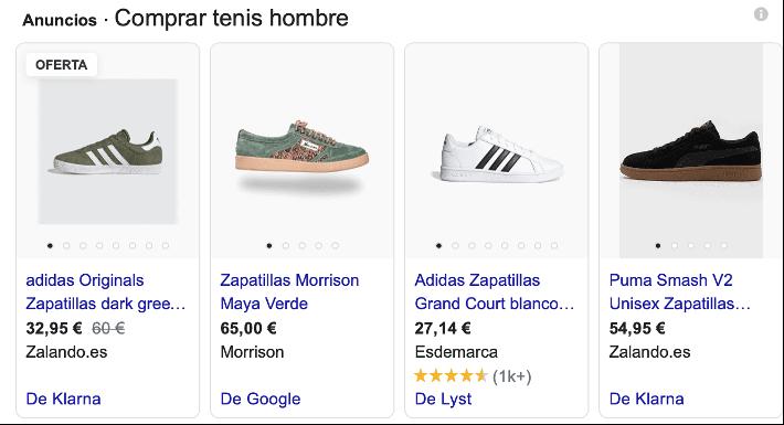 Campañas de Google Shopping. Publicidad digital